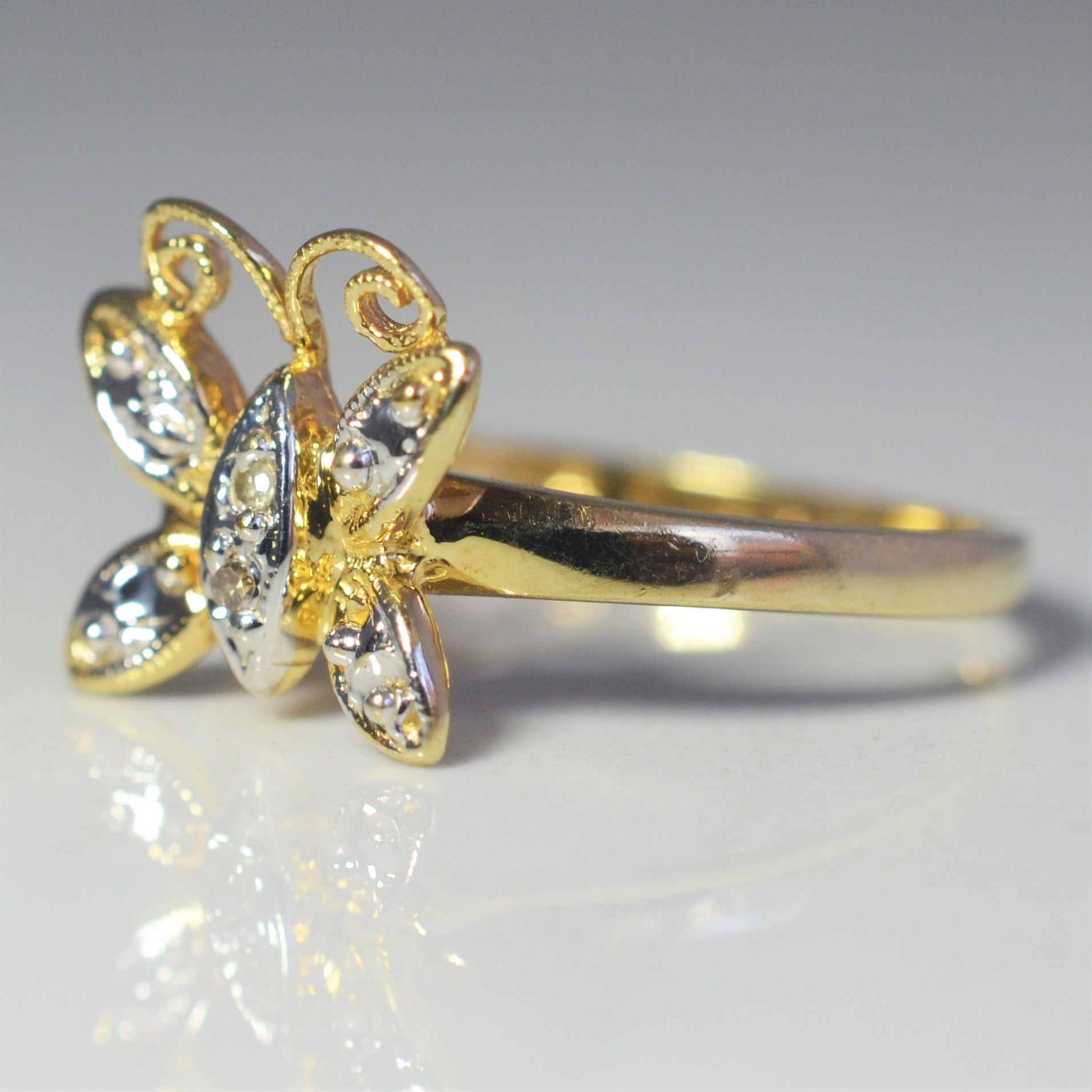 Diamond Butterfly Ring | 0.02 ctw, SZ 6 |