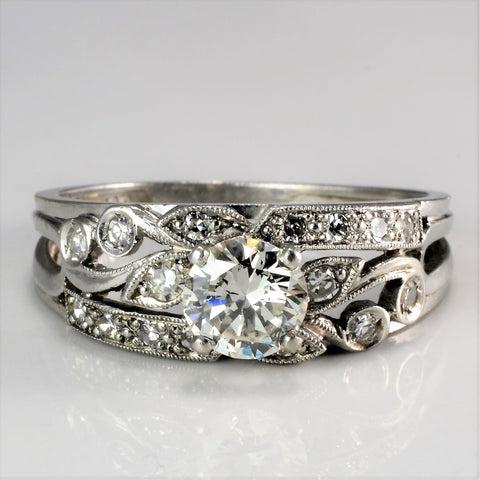 Milgrain Detailed Vintage Diamond Engagement Ring | 0.95 ctw, SZ 7.5 |