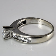 Solitaire with Accents Diamond Engagement Ring | 0.96 ctw, SZ 6.5 |