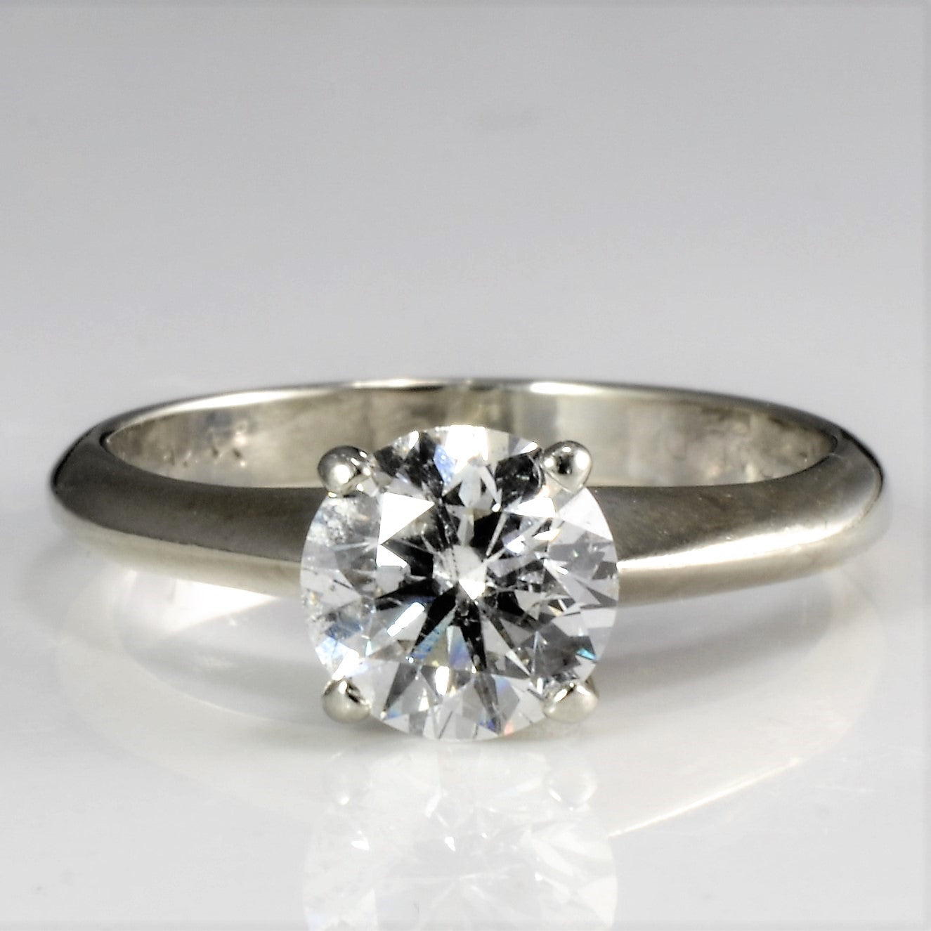 Four Prong Solitaire Diamond Engagement Ring | 0.90 ct, SZ 4.5 |
