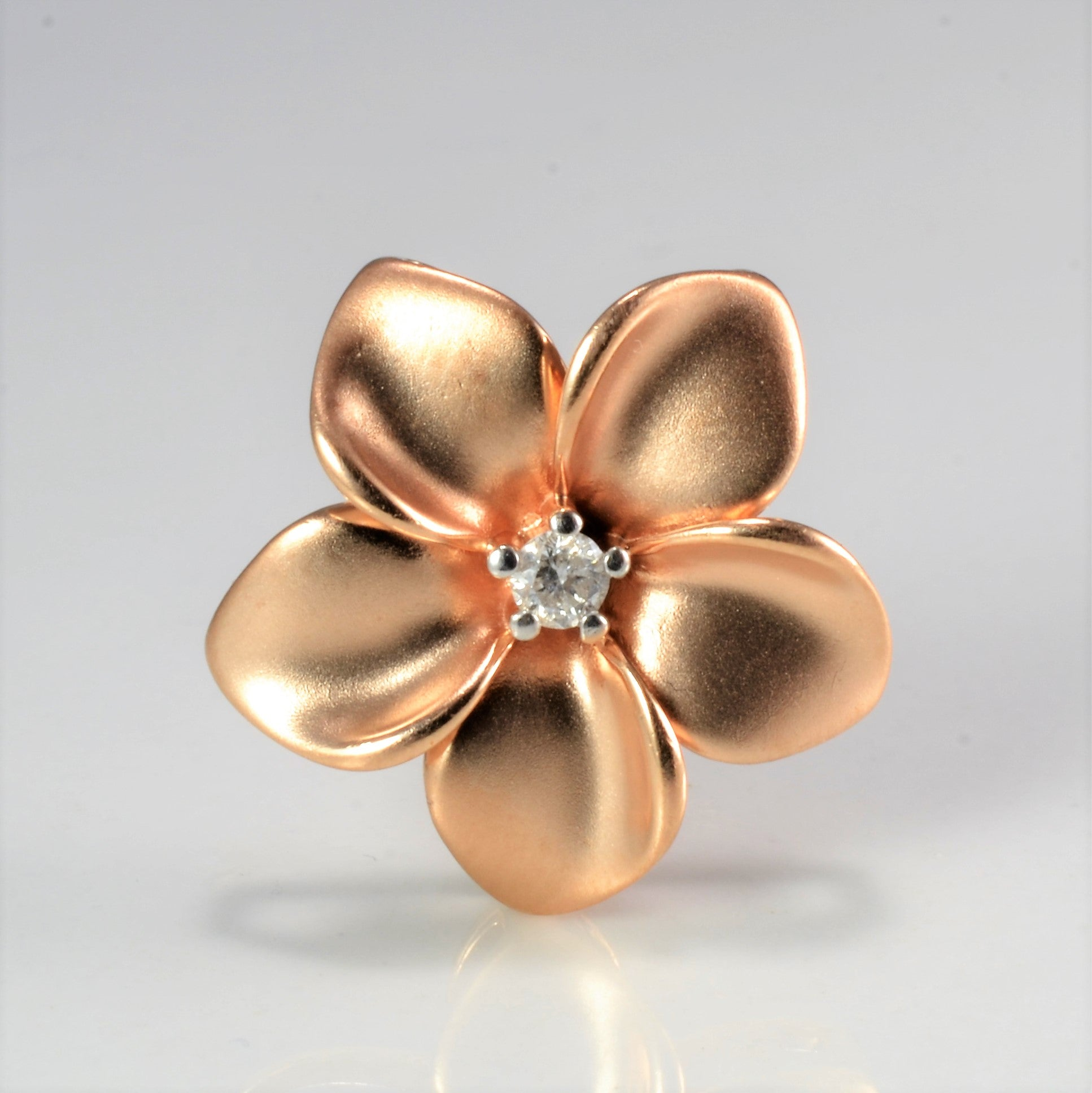 Rose Gold Flower Diamond Pendant | 0.04 ct |