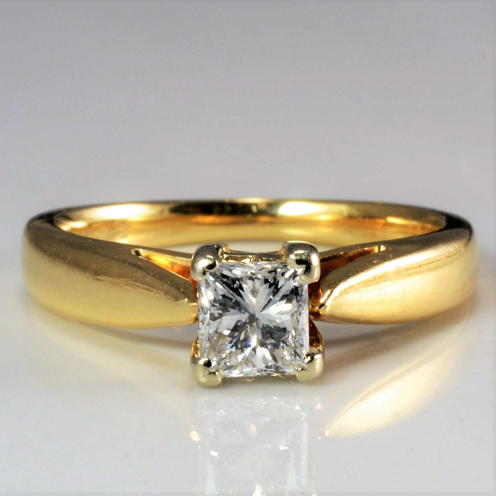 Solitaire Princess Diamond Engagement Ring | 0.56 ctw SZ 5 |