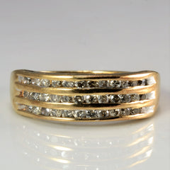Triple Row Channel Diamond Band | 0.54 ctw, SZ 7.25 |