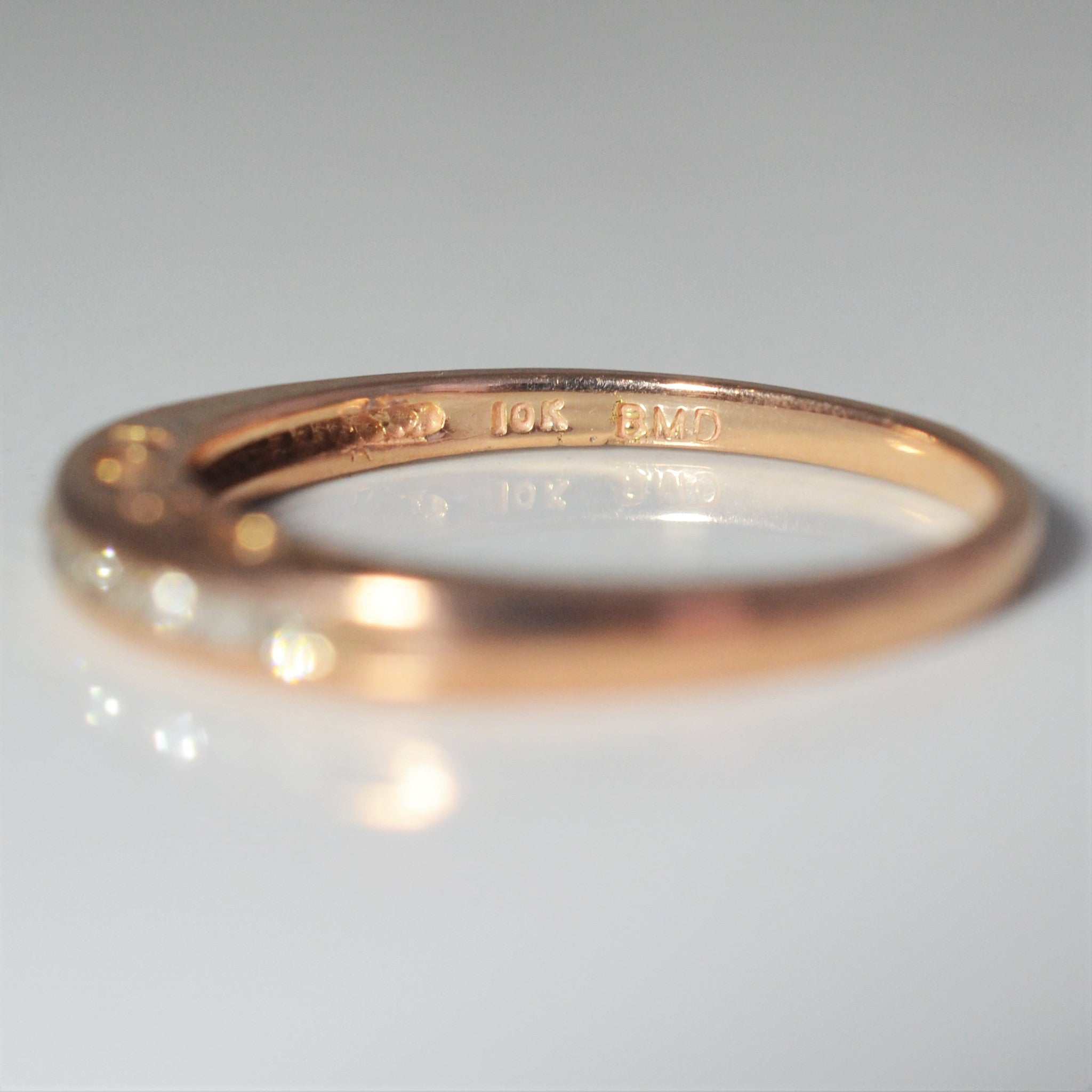 'I Love You' Rose Gold Diamond Band | 0.09 ctw, SZ 6.75 |