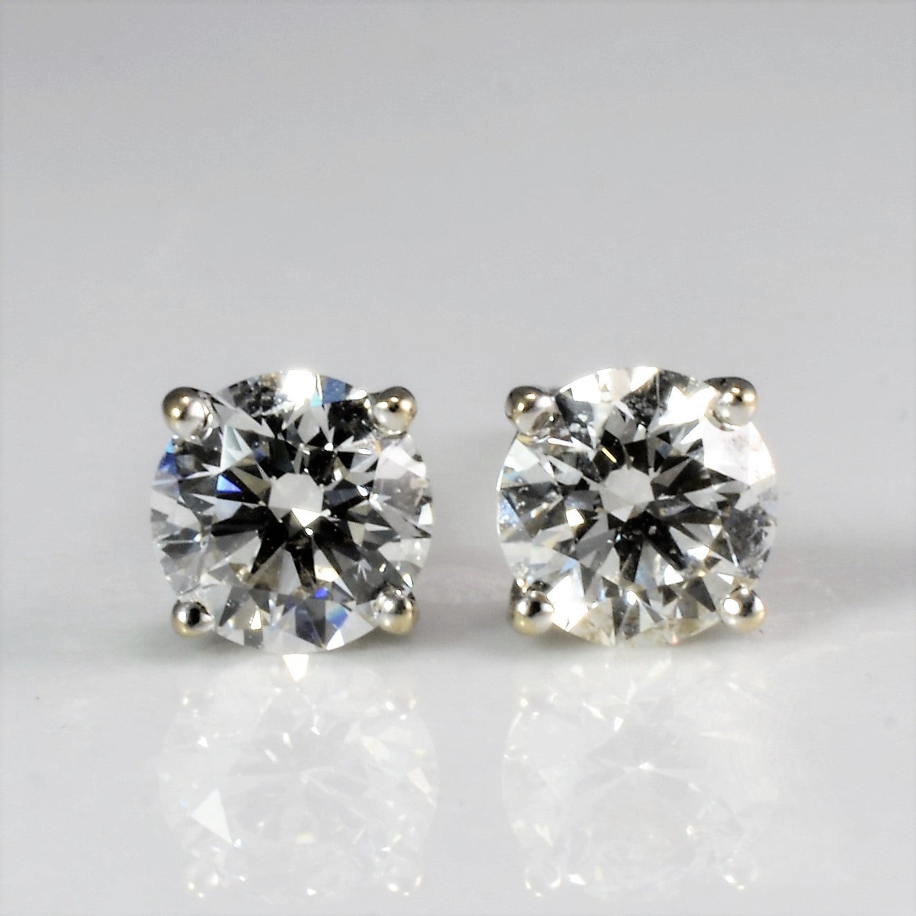 """Birks"" Prong Set Diamond Stud Earrings 