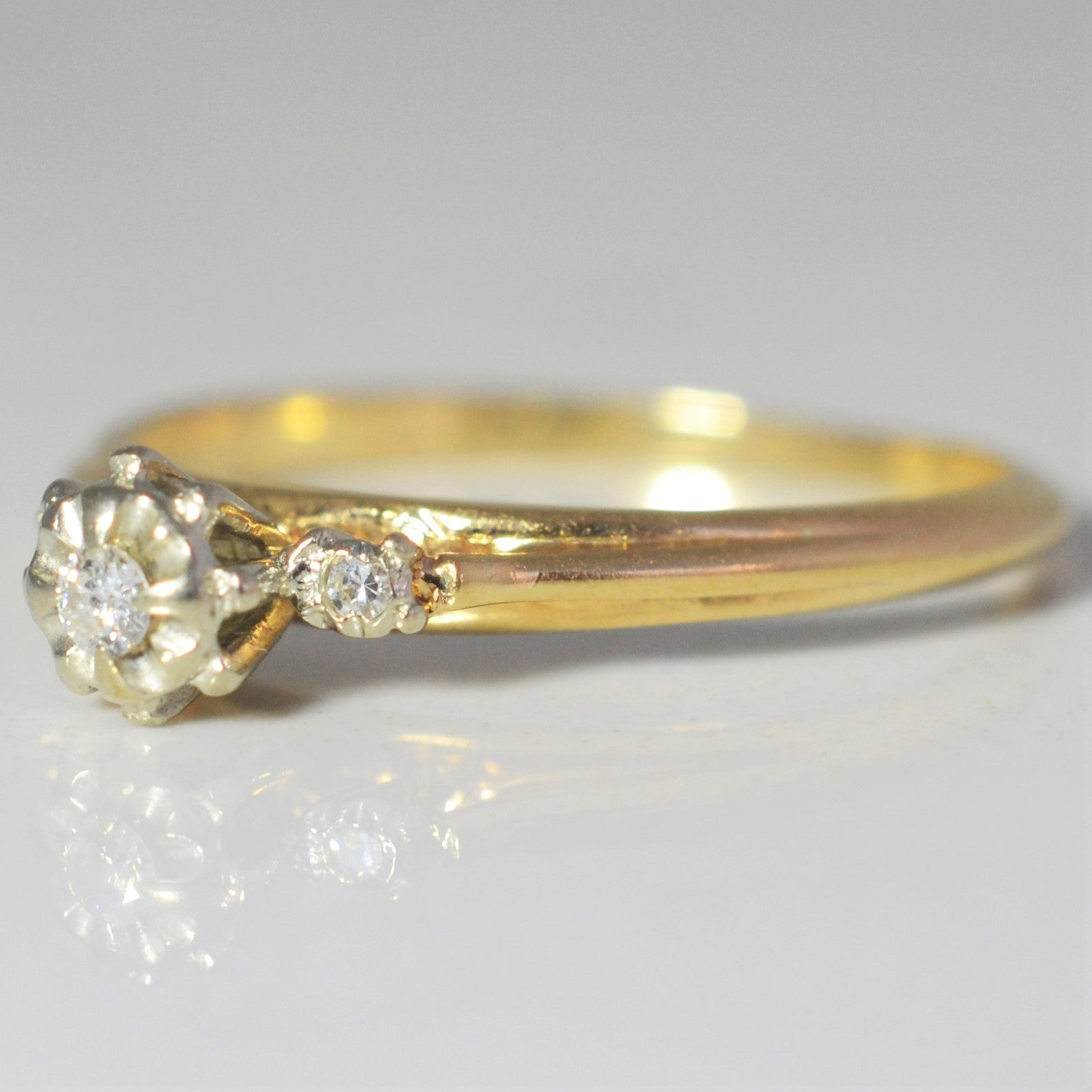 Petite Three Stone Ring | 0.05 ctw, SZ 5.75 |