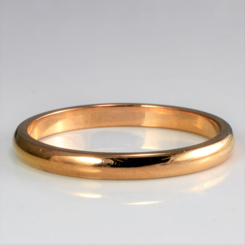 """Cartier"" 18K Rose Gold Plain Band 