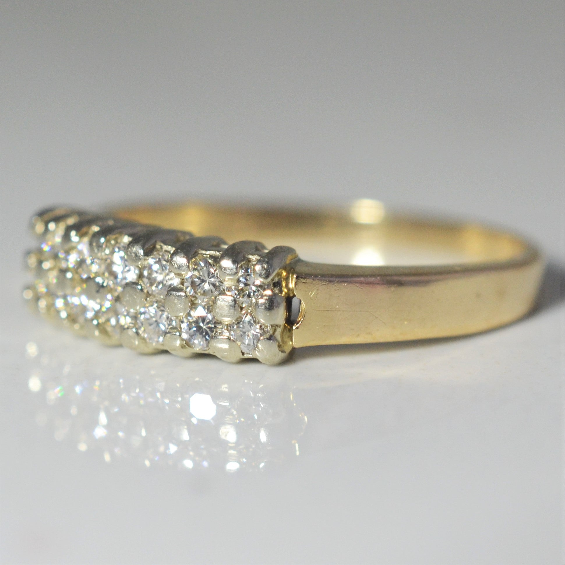 Double Row Diamond Wedding Band | 0.25 ctw, SZ 6 |