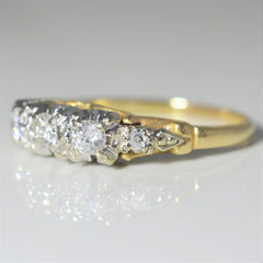 Vintage Three Stone Engagement Ring | 0.26 ctw, SZ 5.5 |