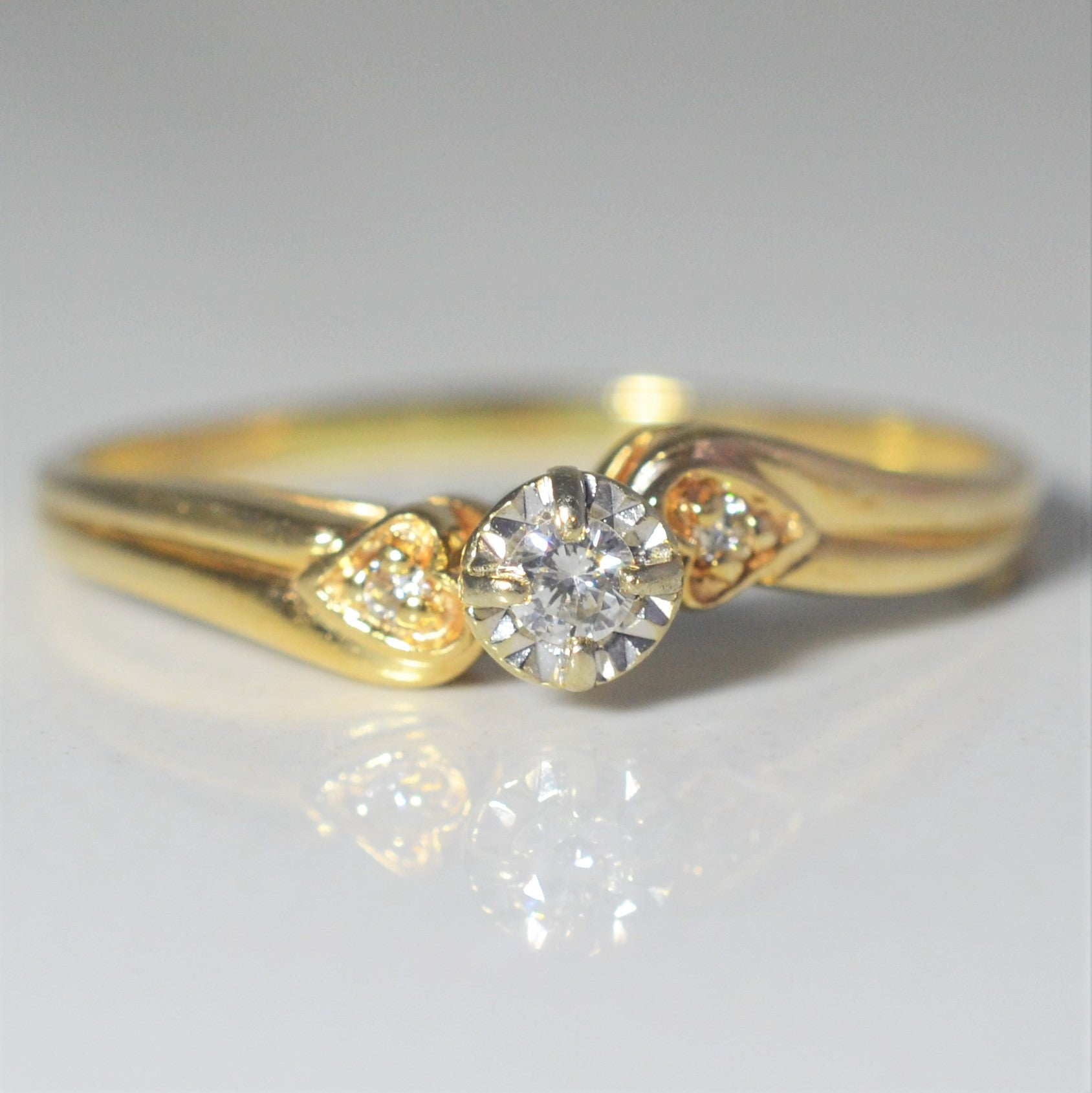 Bypass Heart Illusion Set Diamond Ring | 0.05 ctw, SZ 9 |