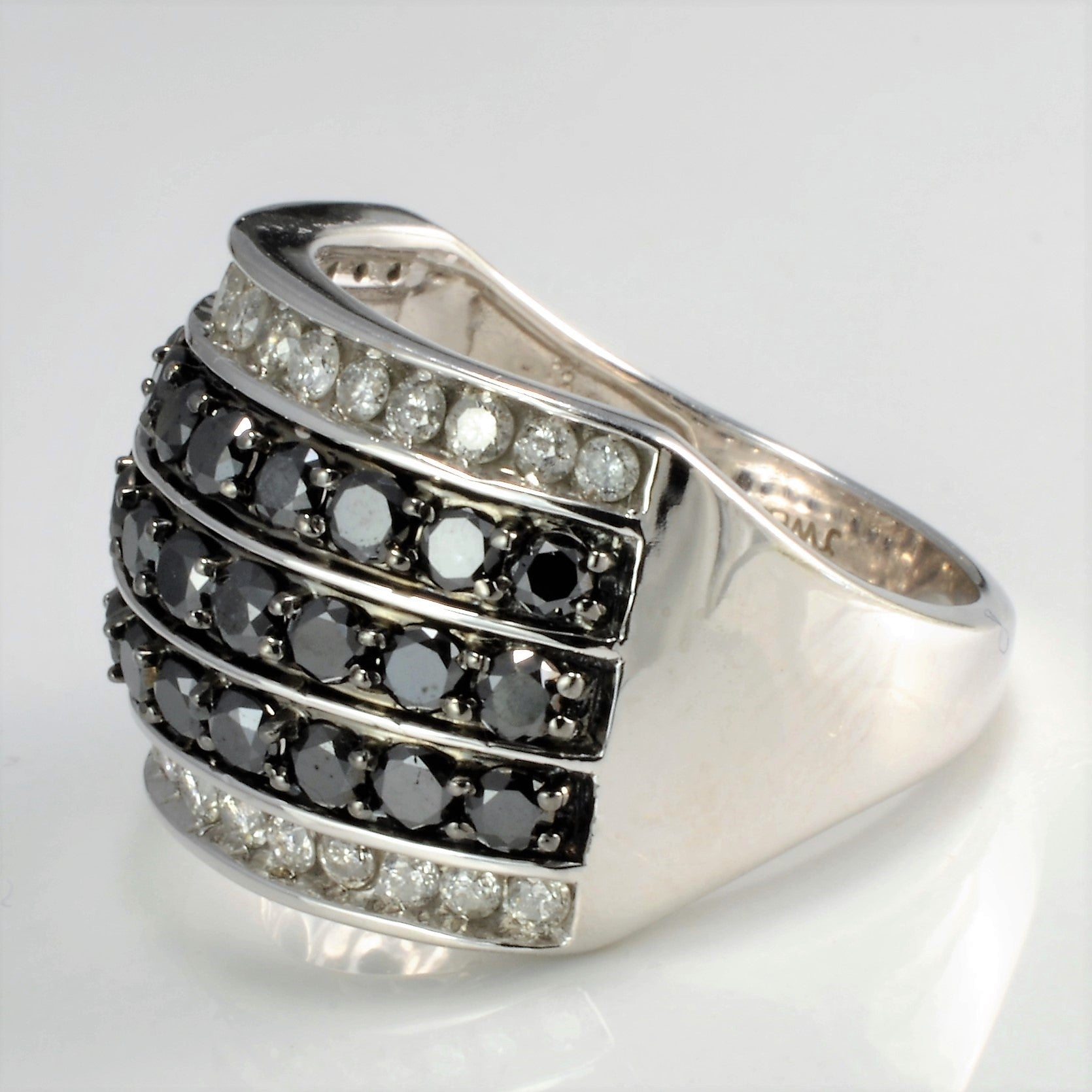 Multi Channel Cluster Diamond Wide Ladies Ring | 2.00 ctw, SZ 7 |