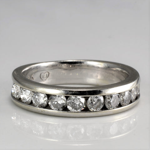 Channel Set Diamond Wedding Band | 1.00 ctw, SZ 6.25 |
