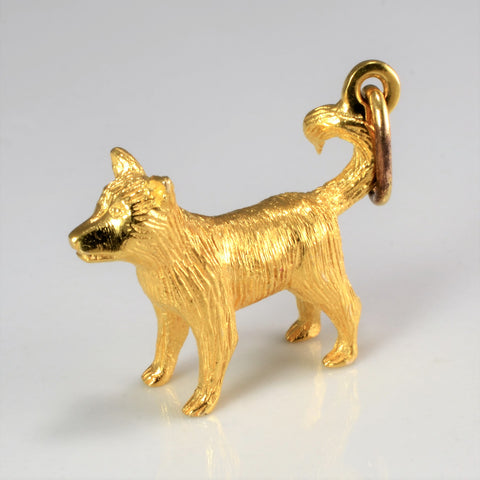 10k Yellow Gold Dog Charm