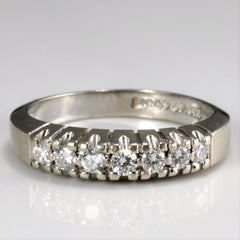 """Birks"" Seven Stone Diamond Wedding Ring 