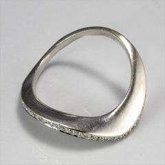 BIRKS Pave Diamond Wave Ring | 0.15 ctw, SZ 7.5 |