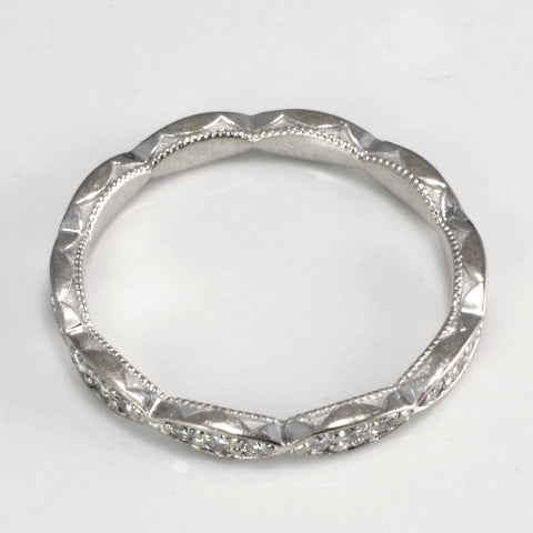 TACORI Sculpted Crescent Diamond Eternity Band | 0.30 ctw, SZ 6.5 |
