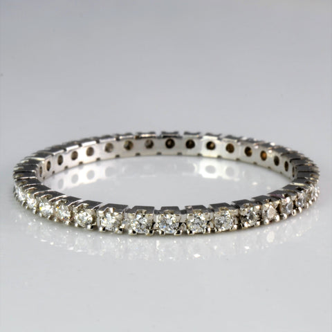 """Birks"" Pave Diamond Eternity Wedding Band 