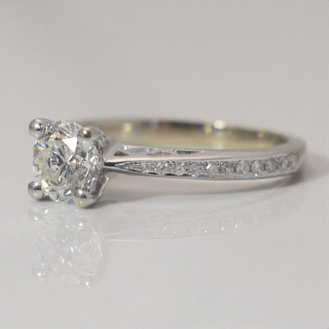 Delicate Mount Detailed Solitaire Engagement Ring | 0.81 ctw, SZ 4.75 |