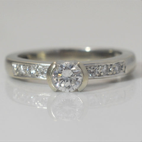 Open Semi Bezel Diamond Engagement Ring | 0.45 ctw, SZ 6.75 |