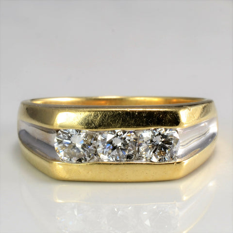 Channel Diamond Men's Ring | 1.00 ctw, SZ 10 |