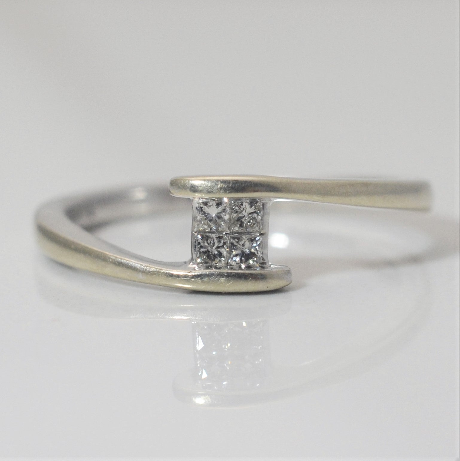 Quad Cluster Promise Ring With Hidden Diamonds | 0.21 ctw, SZ 9.25 |