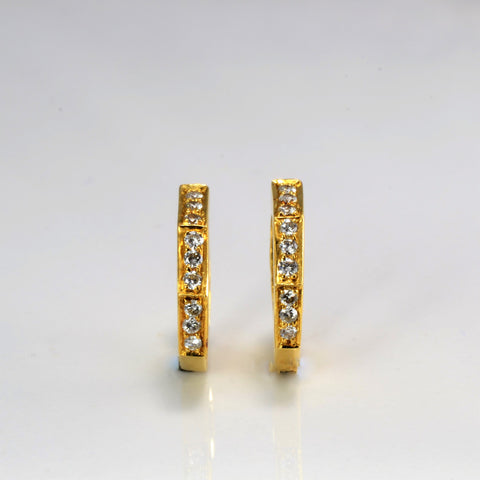 Diamond Huggie Earrings | 0.18 ctw |