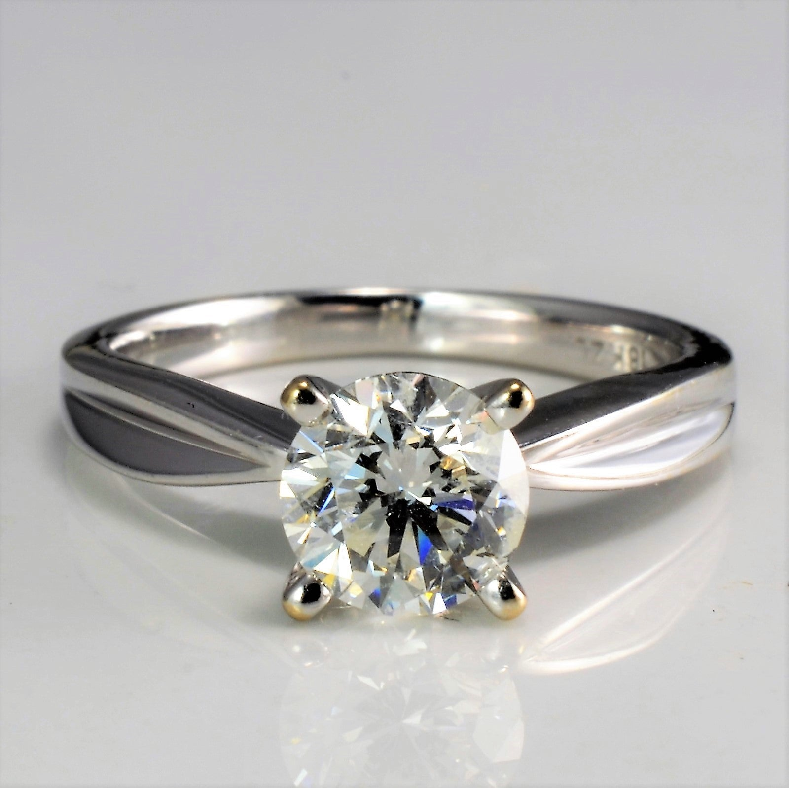 Prong Set Solitaire Diamond Engagement Ring | 1.01 ct, SZ 4.75 |