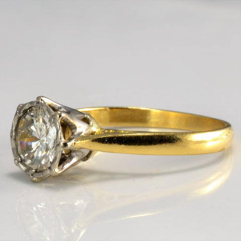 Vintage Solitaire Diamond Engagement Ring | 0.76 ct, SZ 6 |