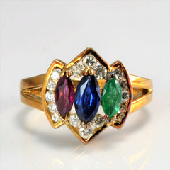 Multi Gemstone Ring | 0.20 ctw SZ 3.25 |