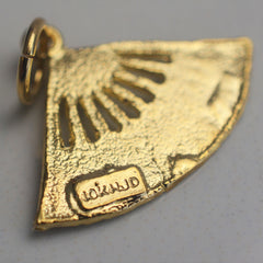 Yellow Gold Fan Pendant