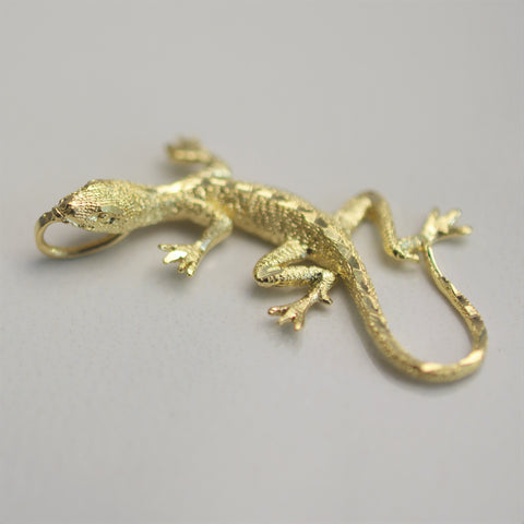 Yellow Gold Lizard Pendant