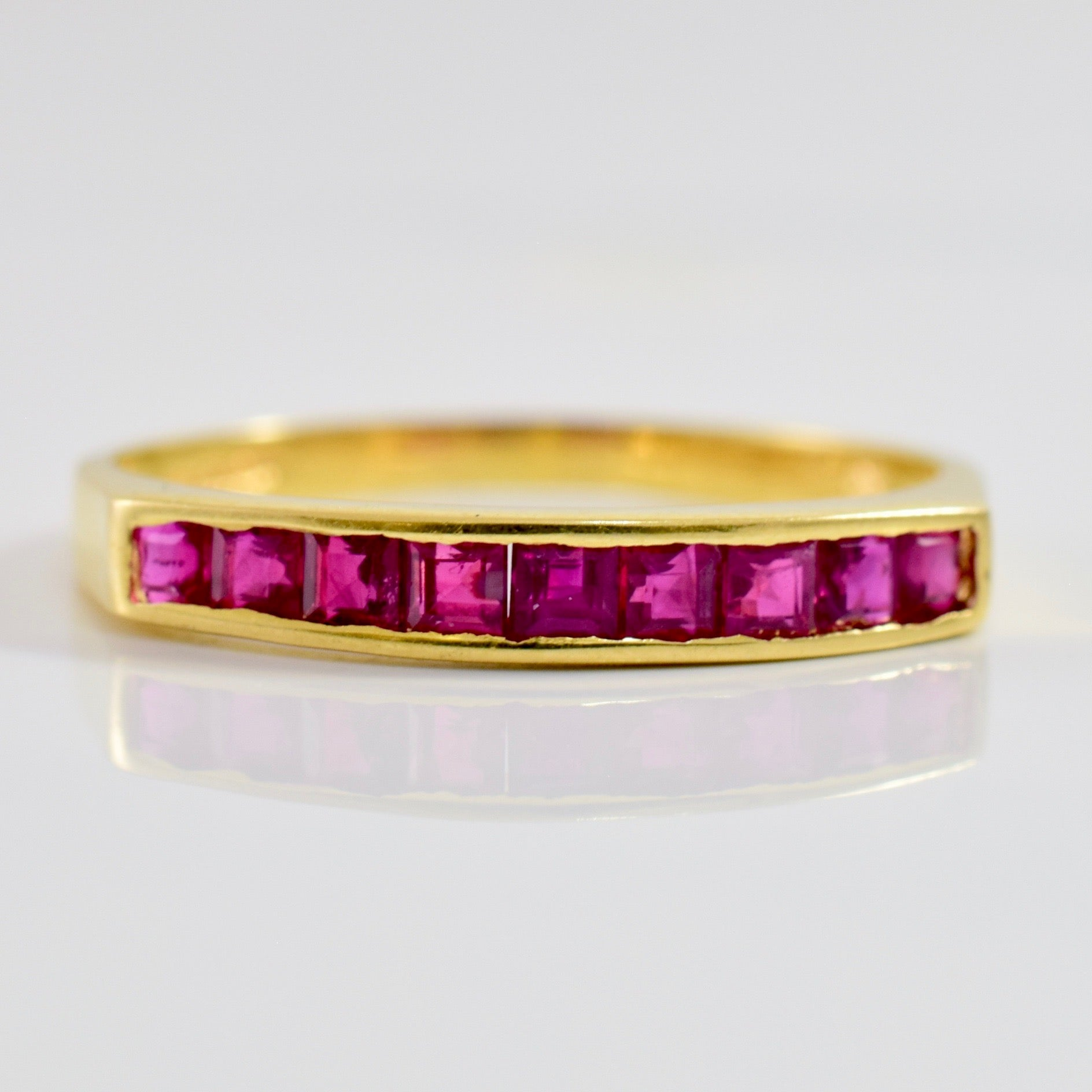 Channel Set Ruby Ring | SZ 7 |