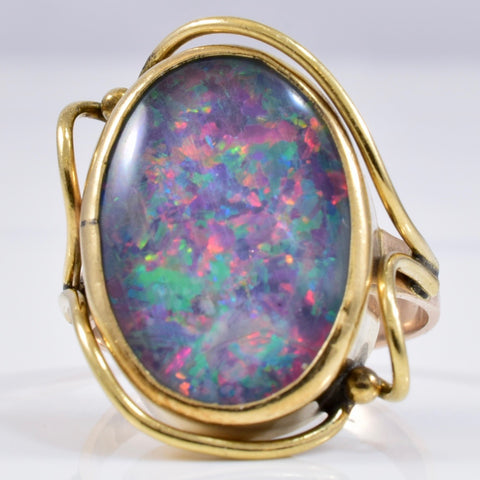 Bezel Set Opal Ring | 6.00 ct SZ 6.25 |