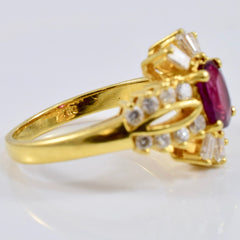 Vintage Ruby and Diamond Accent Ring | 0.50 ctw SZ 6 |