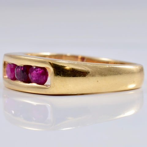 Channel Set Ruby Ring | 0.36 ctw SZ 5 |