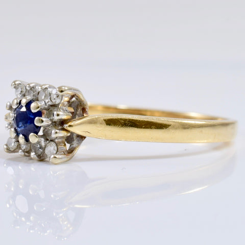 Diamond Cluster and Sapphire Ring | 0.12 ctw SZ 6 |