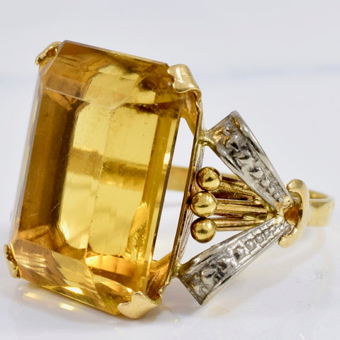 Solitaire Citrine Ring | SZ 7 |