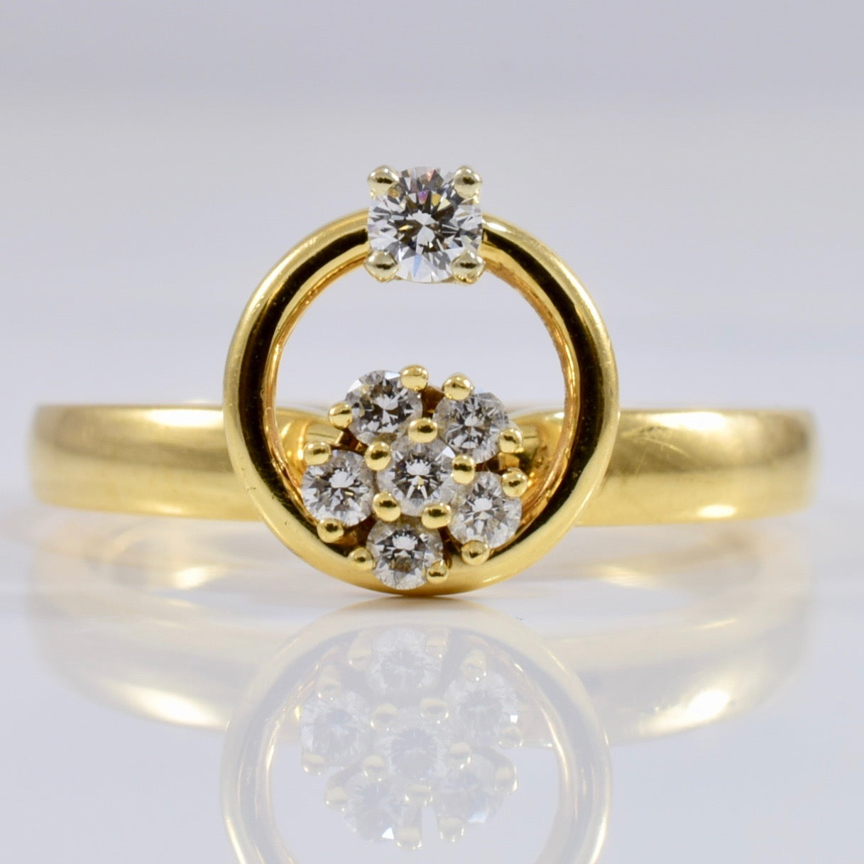 Spinning Diamond Ring | 0.20 ctw SZ 6 |