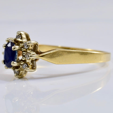 Sapphire and Diamond Cluster Ring | 0.08 ctw SZ 8.5 |