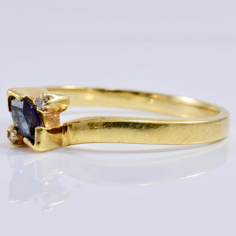 Bypass Sapphire and Diamond Ring | 0.01 ctw SZ 5 |