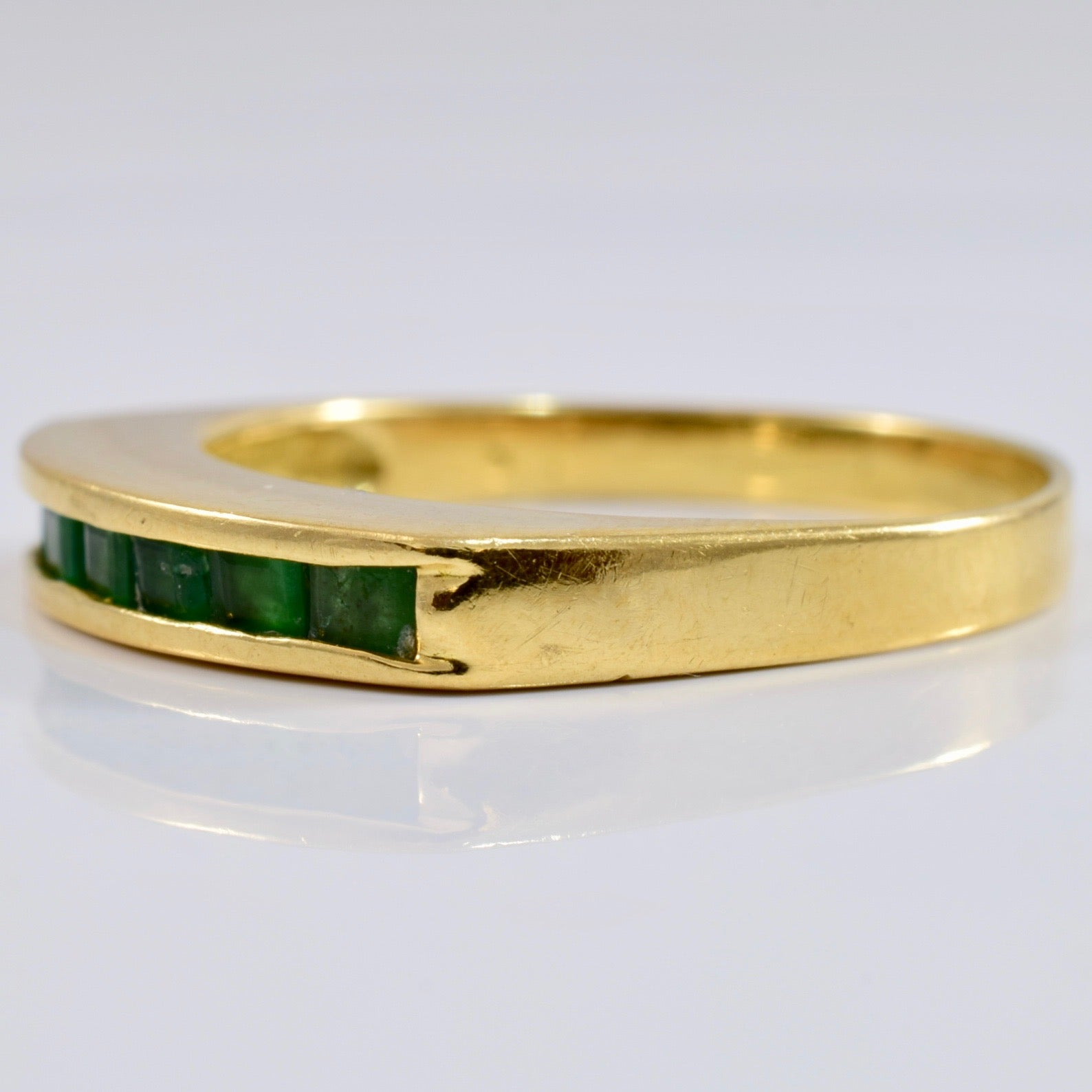 Channel Set Emerald Band | 0.35 ctw SZ 7 |