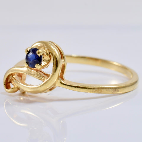 Solitaire Sapphire Ring | SZ 6.75 |