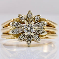 Floral Diamond Cluster RIng | 0.27 ctw SZ 10.25 |