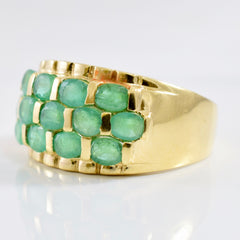 Large Emerald Cluster Ring | SZ 10.25 |