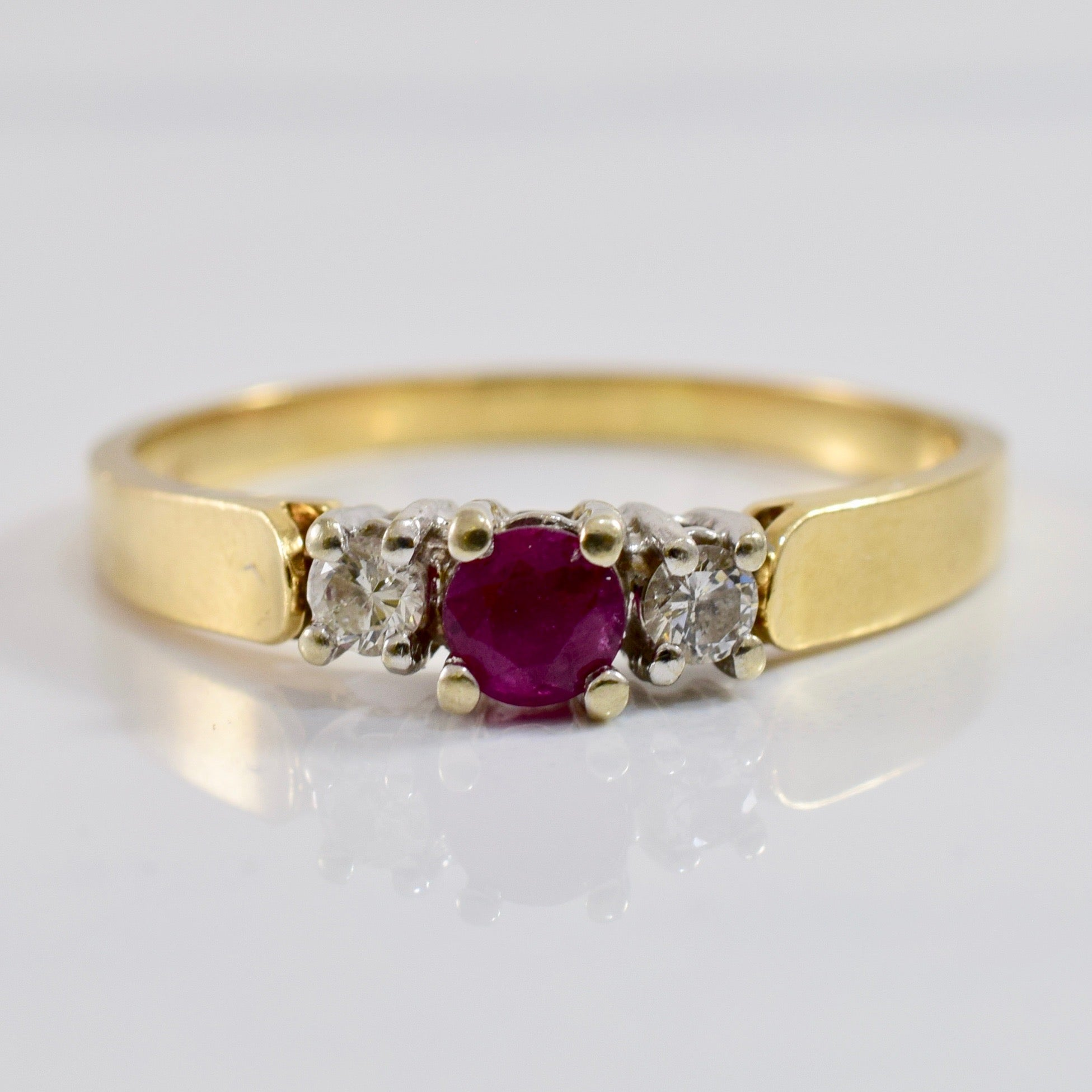 Ruby and Diamond Ring | 0.12 ctw SZ 10.25 |