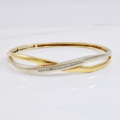 Diamond Infinity Bangle | 0.22 ctw SZ 7"