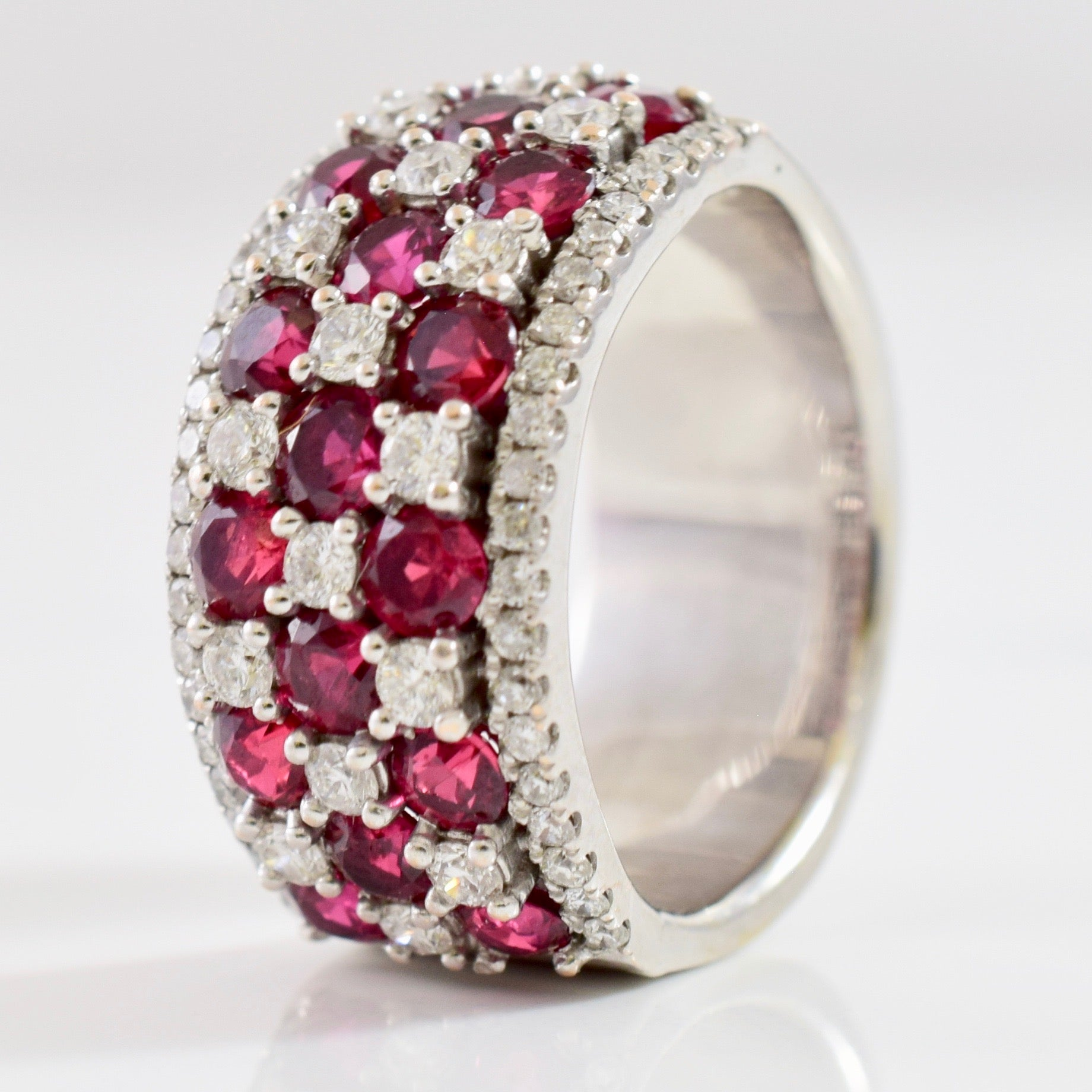 Diamond and Ruby Cluster Band | 0.54 ctw SZ 5.75 |