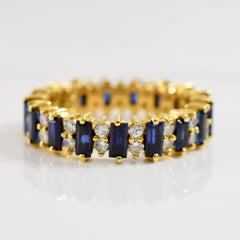 Sapphire and Diamond Eternity Ring | 1.36 ctw SZ 7 |