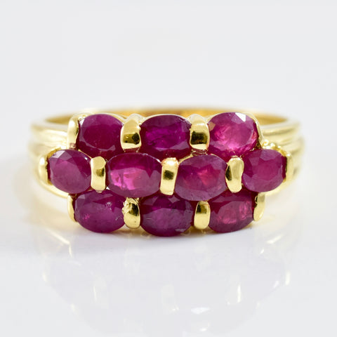 Ruby Cluster Ring | SZ 9 |