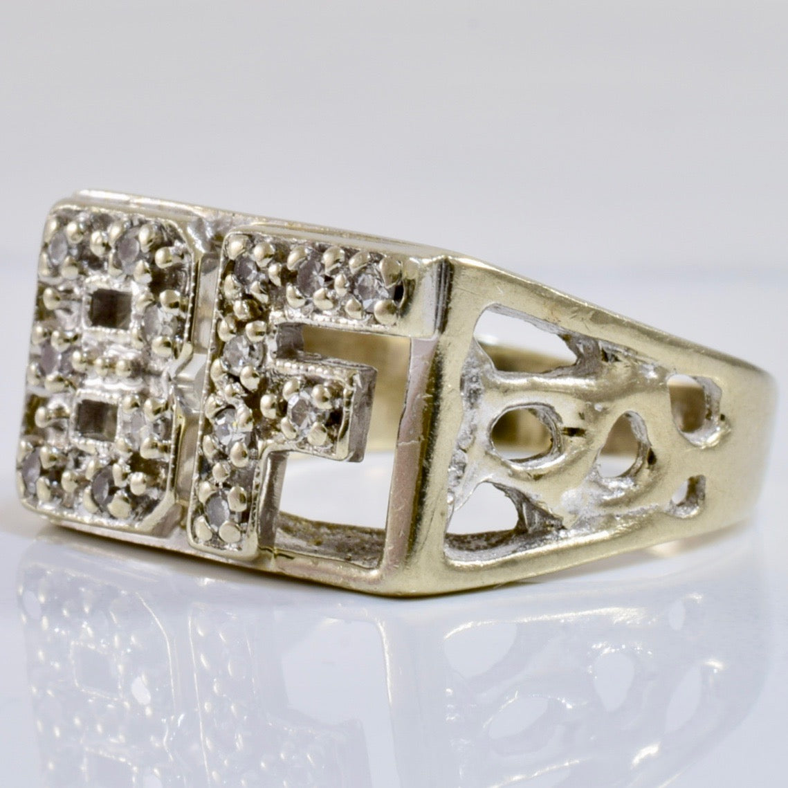 """BF"" Diamond Ring 